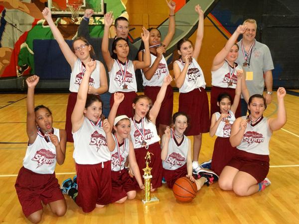St. Mary 2015 JV Basketball Bronze Medal team