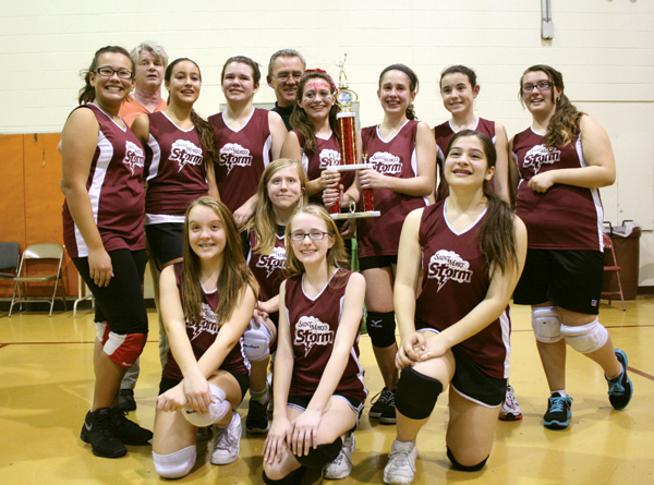 St. Mary 2012 Volleyball Championship team